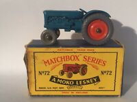 Matchbox Lesney 72 A1 Fordson Tractor *GPW (front) & Orig Type B5 Box