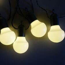 F-h-s Lichterkette 50 LED und weiße Kugeln