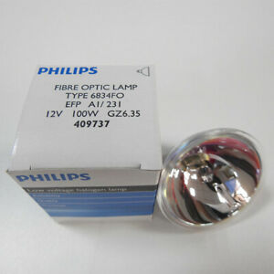 PHILIPS TYPE 6834FO Endoscope Bulb EFP 12V100W GZ6.35 409737 Microscope Lamp