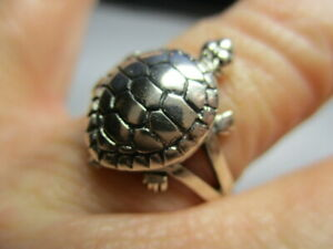 STERLING SILVER 925 BRAND NEW W TAGS TURTLE TORTOISE POISON BOX RING SIZE 10