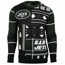New York Jets Patches Ugly Sweater NFL-Crew Neck NEW-2015