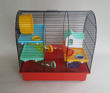 Hamster Cage Big House Tube Wheel Water Bottle Small Animals Mouse Pet Rodents