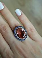 925 Sterling Silver Handmade Antique Turkish Alexandrite Ladies Ring Size 7-9