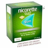 Nicorette Gum Original 2mg of 210 pieces Multiple Packing 1 2 3 4 5 8  (12/2021)