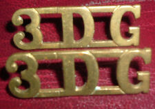 SHOULDER TITLES-PRE 1920 3rd DRAGOON GUARDS '3DG' MATCHED AND FACING PAIR
