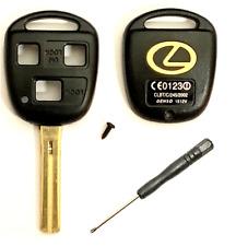 200 Lexus 3 Button Remote Head Key Shell TOY48 (Short) + SCREWDRIVER USA STOCK