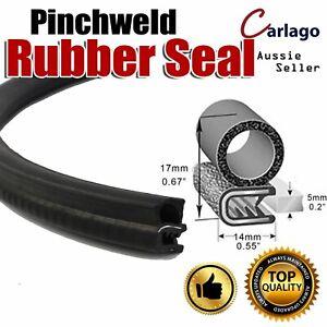 6M Pinch Weld Cars Rubber Seal Trim Strip Door Edge Protector Shock Absorption