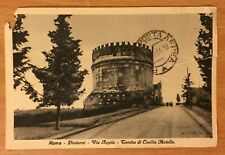 old post card Sent from Rome Italy to Jerusalem Palestine 1930s