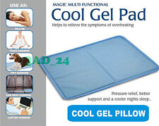 Gel Cooling Pad Heat Absorb Hot Flush Mat Magic Cold Cool Cooler Pillow Topper