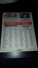 David Gilmour, Willie Nelson, Julio Iglesias Rare Radio Promo Poster Ad Framed!