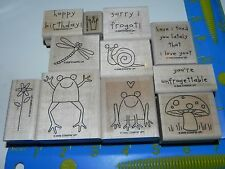 Stampin Up Unfrogettable Stamp Set Frog Puns Snail Dragonfly Crown Birthday