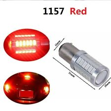 1157 Red 33 SMD LED Projector Lens Tail Brake Revise Light Turn Signal Bulbs