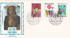 Türkisch Zypern  FDC Ersttagsbrief 1979 Jahr des Kindes Mi.Nr.77-79