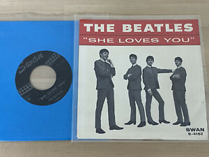 Beatles Original 1964 She Loves You Swan Records Picture Sleeve NM w/45 RARE
