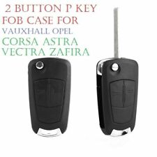2 Button Remote Flip Key Fob Case Blade for VAUXHALL OPEL CORSA ASTRA Logo