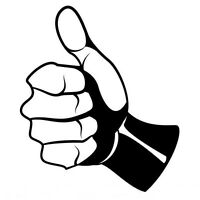 LIKE THUMBS UP  CAR DECAL STICKER