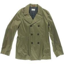 Brunello Cucinelli 0054 Mens Green Modern Fit Cotton Two-Button Blazer L BHFO