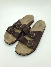 Disney Men's Shoes Sandals Leather Brown Slip On Size 12