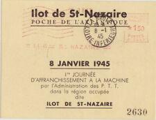 Festung St. Nazaire Gedenkblatt Einführung Maschinenstempel v. 08.01.1945