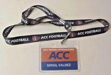2012 Acc Football Officials Clinic Name Tag for Virgil Valdez, Back Judge