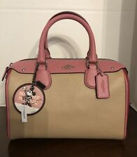 COACH Mini Bennett Colorblock Pink Bag, Crossbody NWT Coach Minnie Mouse Tag