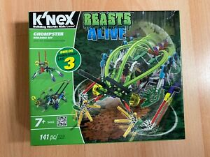 KNEX Beasts Alive Moving Chompster Building Set, New Sealed, Gift