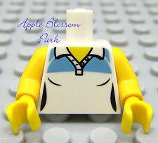 NEW Lego Female MINIFIG TORSO White Light Blue Girl Tennis Button Tank Top Shirt
