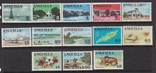 ANGUILLA 1967 DEFINITIVES PART SET (13/15) NEVER HINGED MINT