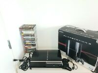 PS3 Console Boxed Bundle + 25 Games & 1 Controller PlayStation 3 Black Phat PAL