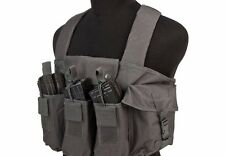 AK Chest Rig VISM Tactical 6 Magazine AK47 Field Operators Vest 762 223 Black.