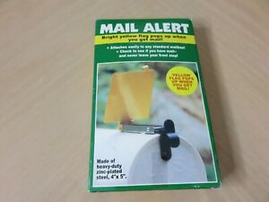 "Mail Alert Mail Box Yellow Signal Flag New Heavy Duty Zinc Plated Steel 4""x5"""