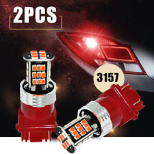 2pcs Red Lighting 3157K LED Brake/Tail/Rear Turn Signal Blinker Light Bulb Lamp