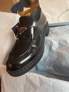 Prada Genuine  Brushed Leather Loafers - NIB with Original Tags