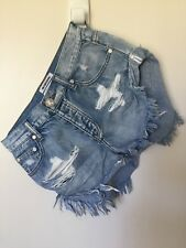One Teaspoon Denim Bandit Shorts - Light Wash, Size 6 (24)