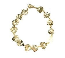 Child's Bracelet in Gold Plate - Hearts