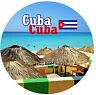 CUBA VISTE/BANDIERA ROTONDO NOVITÀ NEGOZIO DI SOUVENIR MAGNETE DEL FRIGORIFERO