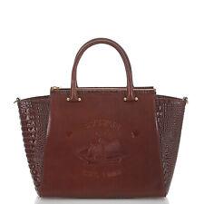 RARE $425 NWT Brahmin Taylor Satchel Elton Cognac Leather pecan brown