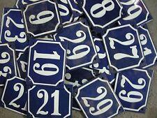 Alte Hausnummer verschiedene Zahlen Emailschild Emailleschild