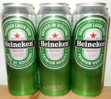 3 HEINEKEN Beer cans from HOLLAND (70cl) Export Taiwan, US, France