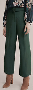 NWT Witchery High Waist Belted Green Pants Sz 12 Rrp $130