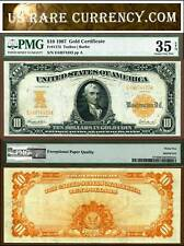 1907 $10 Gold Certificate FR-1172 PMG Graded VF35 EPQ
