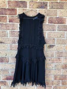 Talulah Designer Black Dress Size Small Designer Edgy Formal Club