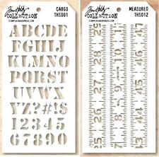 TIM HOLTZ STAMPERS ANONYMOUS LAYERING STENCIL CARGO / MEASURED 2 PACK