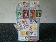 Funny Women's Retro Quotes Magnet Set. Gift Idea. Humour, Sarcasm. Vintage Signs