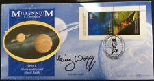 Benham 26.5.2000 Millenium Booklet Pane FDC Signed by PROF. HEINZ  WOLFF, Space