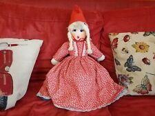Rarissima Bambola Tre 3 Faccie Capuccetto Rosso ,il Lupo Cattivo,e la Nonna