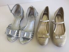 Girls Gold Monsoon Shoes Silver Marylebone London Sandals Size 1