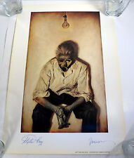 STEPHEN KING & PHIL HALE DUAL SIGNED AUTOGRAPH INSOMNIA ART PRINT