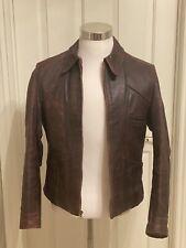 Vintage Horsehide Half Belt Leather Jacket 1940s Size 38/40 Conmar Zipper Nice!