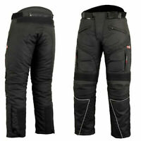 Motorbike Motorcycle Cordura Textile Trousers Pants CE Approved Armours Black T.